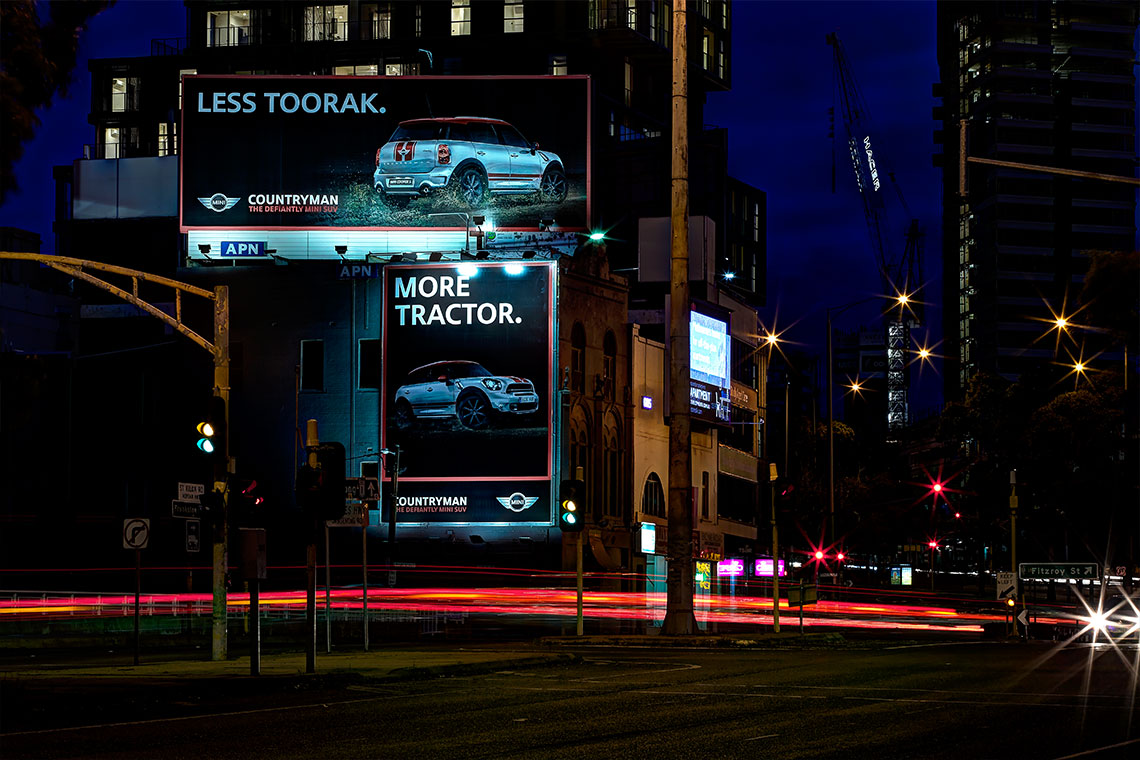 Mini billboard combination